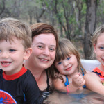 The family loved the jacuzzi with panoramic nature scenes.